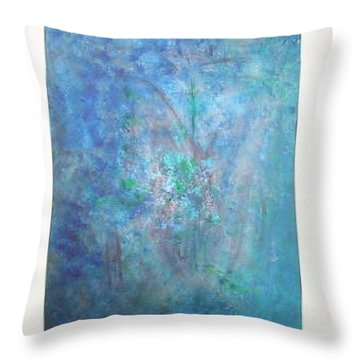 Metal And Water Abstract. Throw Pillow by Lizzy Forrester