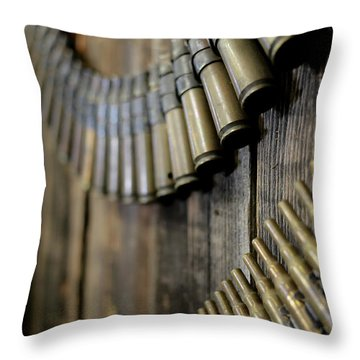 Throw Pillow featuring the photograph Metal And Wood by Lora Lee Chapman