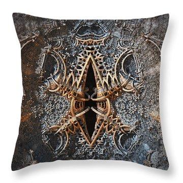 Metal Bender Throw Pillow