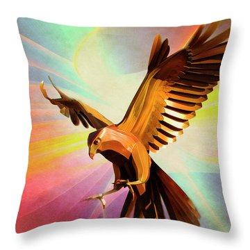 Metal Bird 1 Of 4 Throw Pillow
