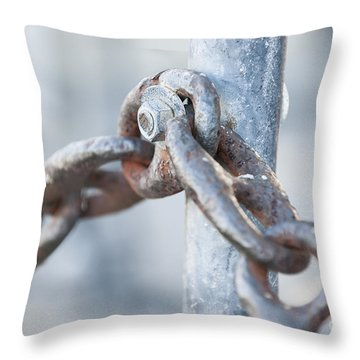Metal Chain Railing Fragment Throw Pillow