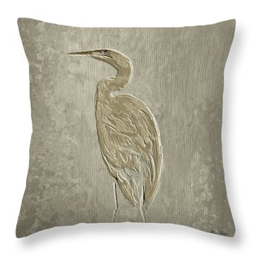 Metal Egret 4 Throw Pillow