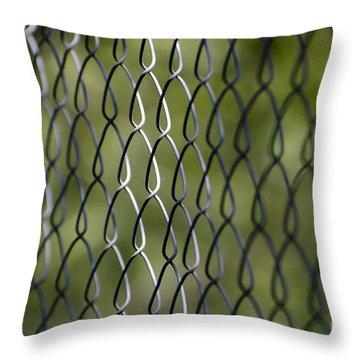 Metal Fence Throw Pillow