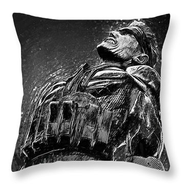Throw Pillow featuring the digital art Metal Gear Solid by Taylan Apukovska