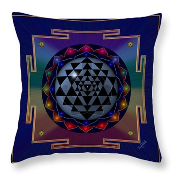 Metal Mandala Throw Pillow