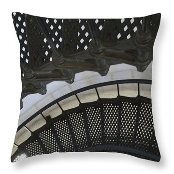 Metal Stair Case Throw Pillow by Linda Geiger