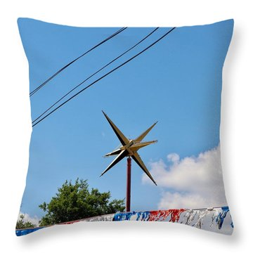 Metal Star In The Sky Throw Pillow
