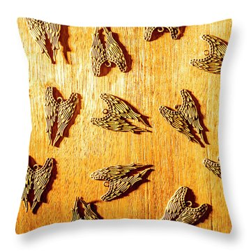 Metal Wing Collective Throw Pillow