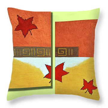 Metaleaf -frequently Bought Together Throw Pillow by Farah Faizal