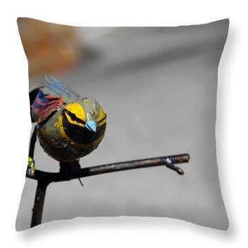 Throw Pillow featuring the photograph Metallic Bunting by Richard Patmore