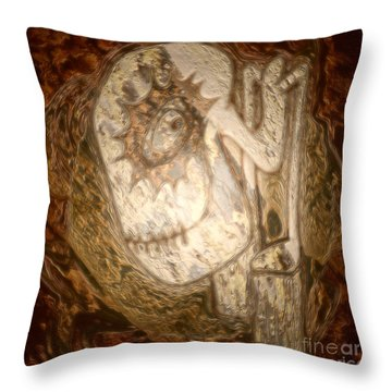 Metallic Ganix Throw Pillow