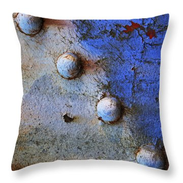 Throw Pillow featuring the photograph Metallic by Heather Kenward