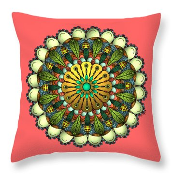 Metallic Mandala Throw Pillow