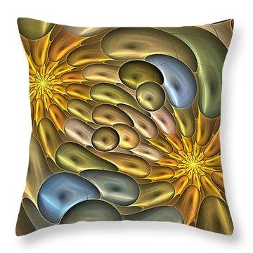 Metallic Mitosis Throw Pillow