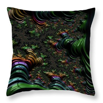 Metallic Roots Throw Pillow by Rajiv Chopra