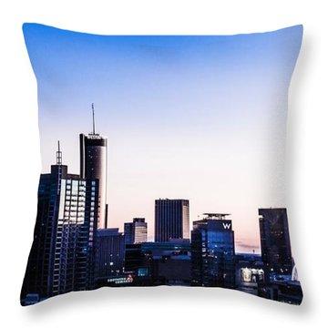 Metallic Sunset Throw Pillow