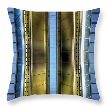 Metallic Throw Pillow by Wim Lanclus