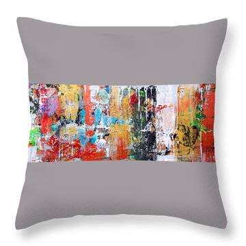 Metallic Winter Throw Pillow