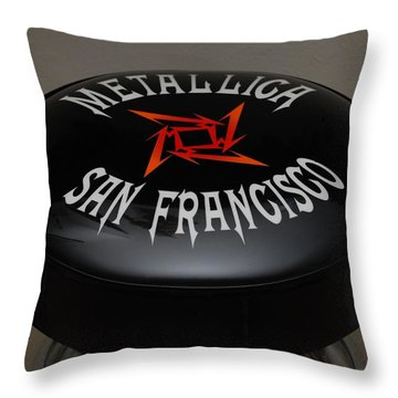 Metallica Bar Stool Throw Pillow