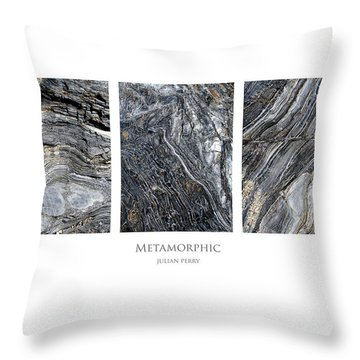 Throw Pillow featuring the digital art Metamorphic by Julian Perry
