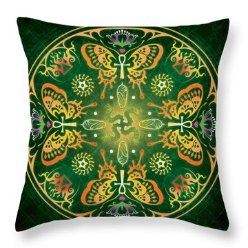 Caterpillars Throw Pillows