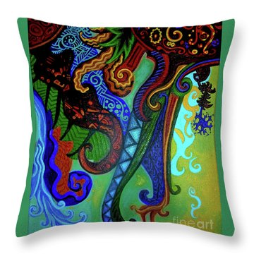 Metaphysical Habituation Throw Pillow by Genevieve Esson