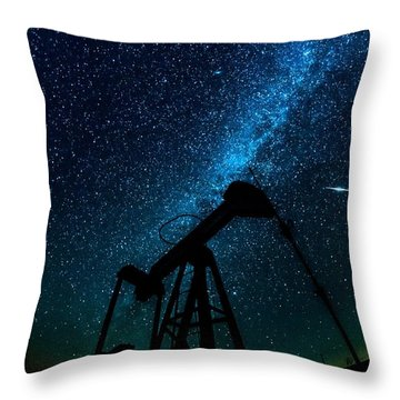 Meteor Above Grasshopper Throw Pillow