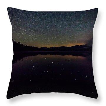 Meteor Over Chocorua Lake Throw Pillow