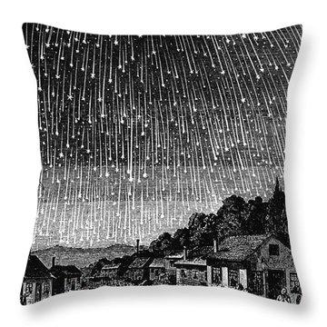 Meteor Shower, 1833 Throw Pillow by Granger