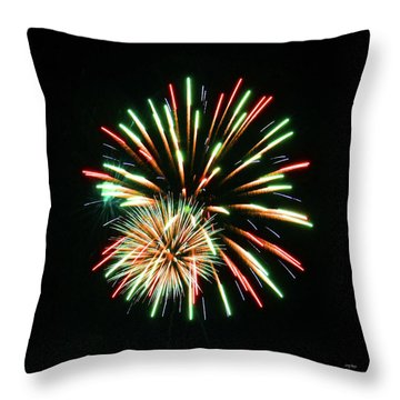 Throw Pillow featuring the photograph Meteor Shower by Sally Sperry