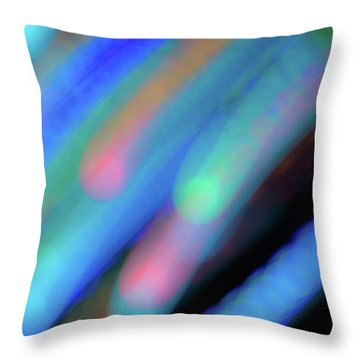 Meteor Storm Throw Pillow