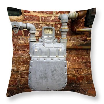 Meter II In Athens Ga Throw Pillow by Flavia Westerwelle