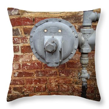 Meter In Athens Ga Throw Pillow by Flavia Westerwelle