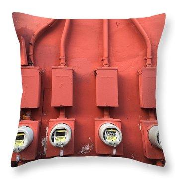 Meter Reader Red 2 Throw Pillow