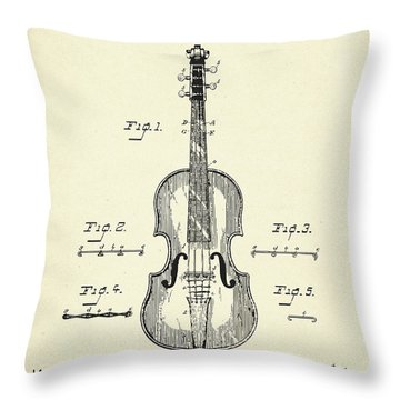 Method Of Improving The Tone Of Violins-1888 Throw Pillow