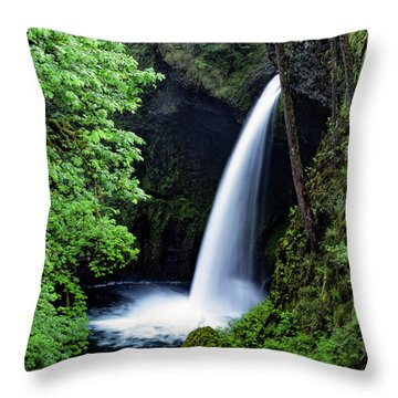 Metlako Falls Waterfall Art By Kaylyn Franks Throw Pillow
