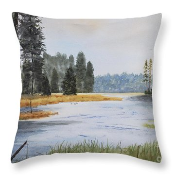 Metolius River Headwaters Throw Pillow