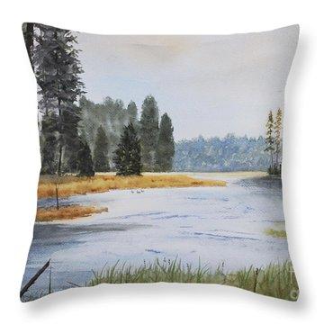 Metolius River Headwaters Throw Pillow