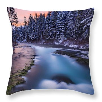 Throw Pillow featuring the photograph Metolius Sunset by Cat Connor