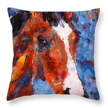 Racehorse Throw Pillows