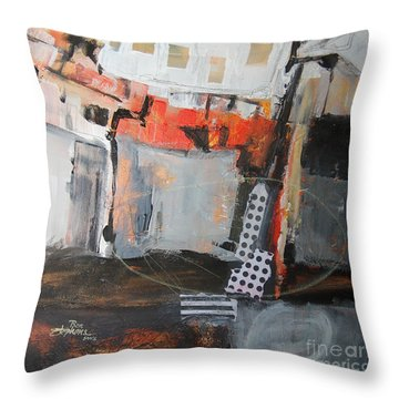 Metro Abstract Throw Pillow by Ron Stephens
