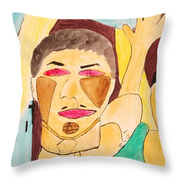 Metro Beauty Throw Pillow