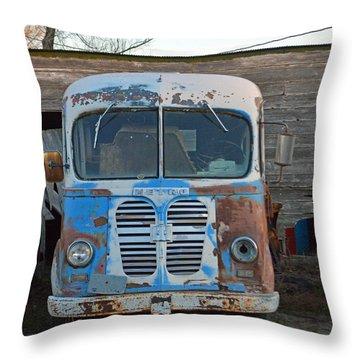 Metro International Harvester Throw Pillow by Renie Rutten