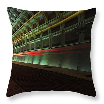 Metro Lights Throw Pillow
