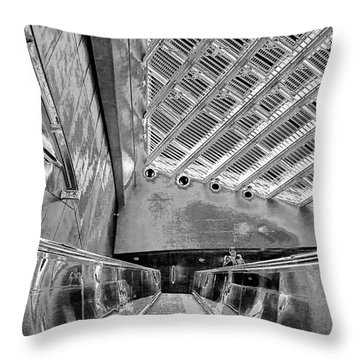 Metro Line 4 Structures, Budapest 3 Throw Pillow