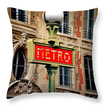 Metro Throw Pillow by Olivier Le Queinec