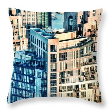 Metropolis Throw Pillow by Amyn Nasser