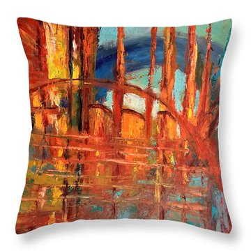 Metropolis In Space Throw Pillow