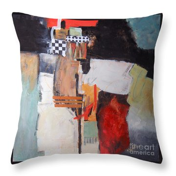 Throw Pillow featuring the painting Metropolis by Ron Stephens