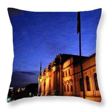 Metropolitan Museum Of Art Nyc Throw Pillow by Vannetta Ferguson
